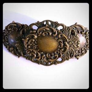 Accessories - Brass handmade Victorian style Hair Barrette
